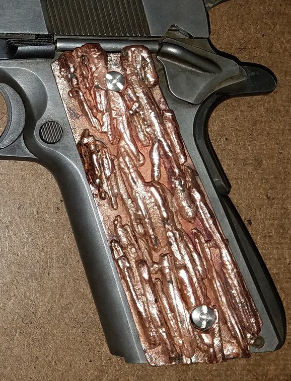 Copper 1911 Custom Gun Grips